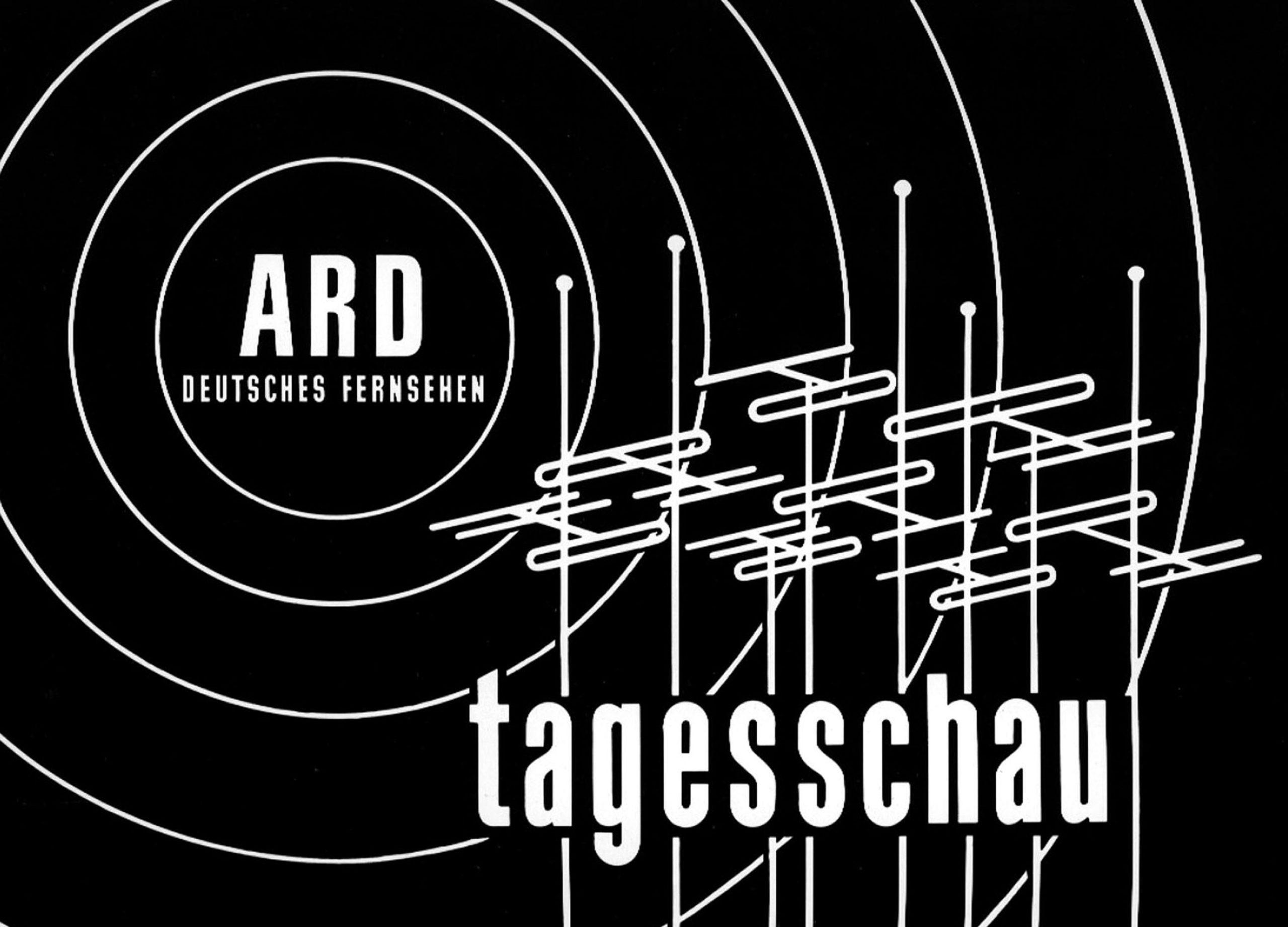 Das erste Tagesschau-Logo.   Bildquelle: NDR