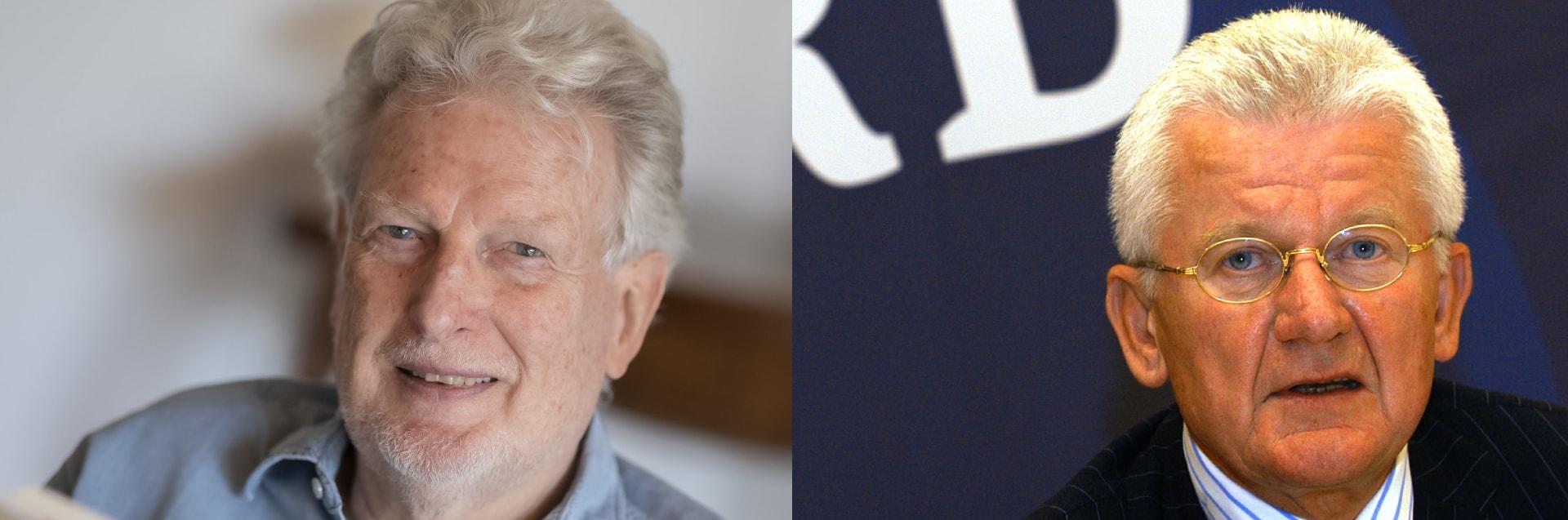 Prof. Peter Voß und Jobst Plog. | Bildquelle: dpa/AP