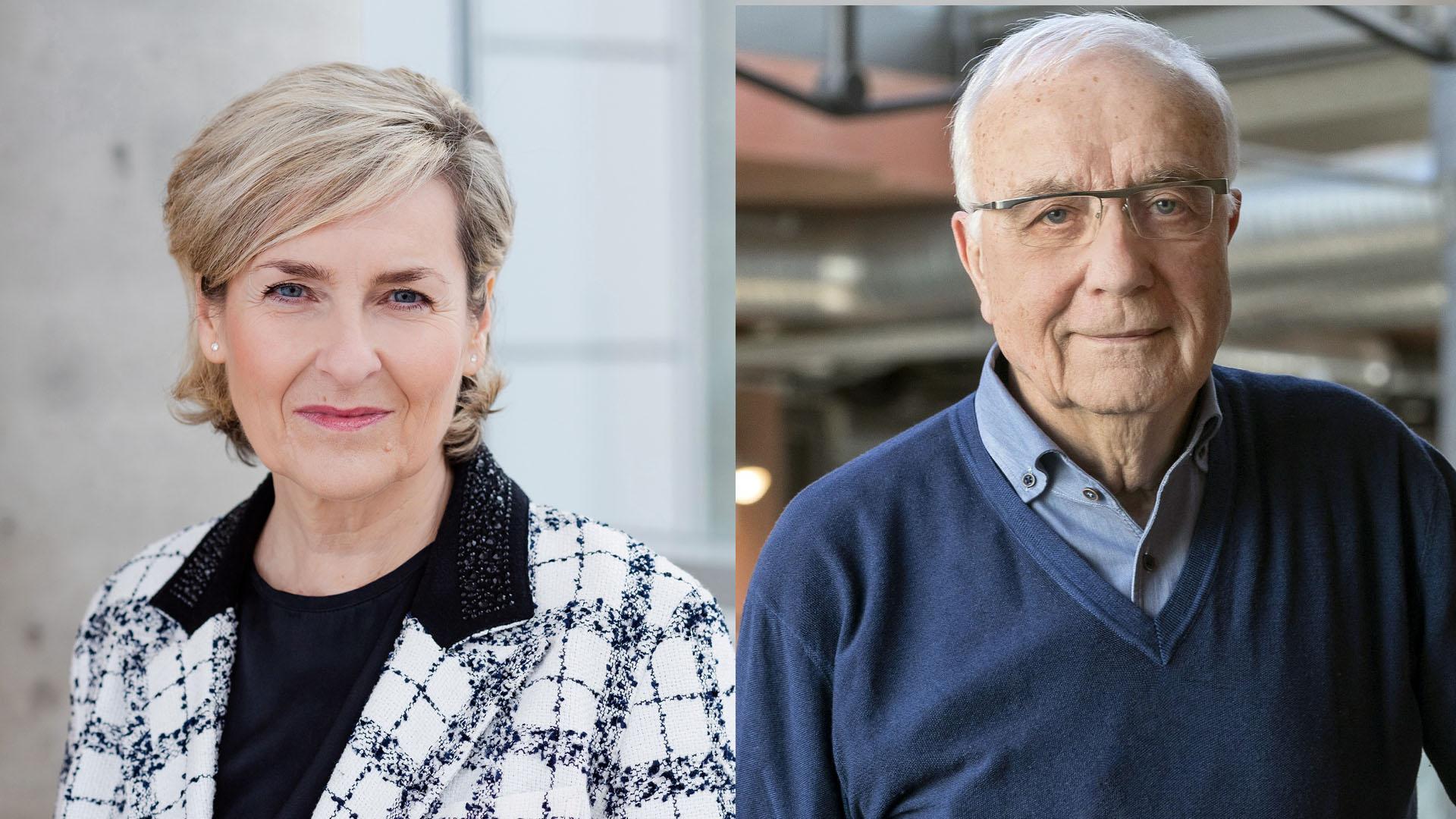Karola Wille und Fritz Pleitgen. | Bildquelle: MDR/WDR