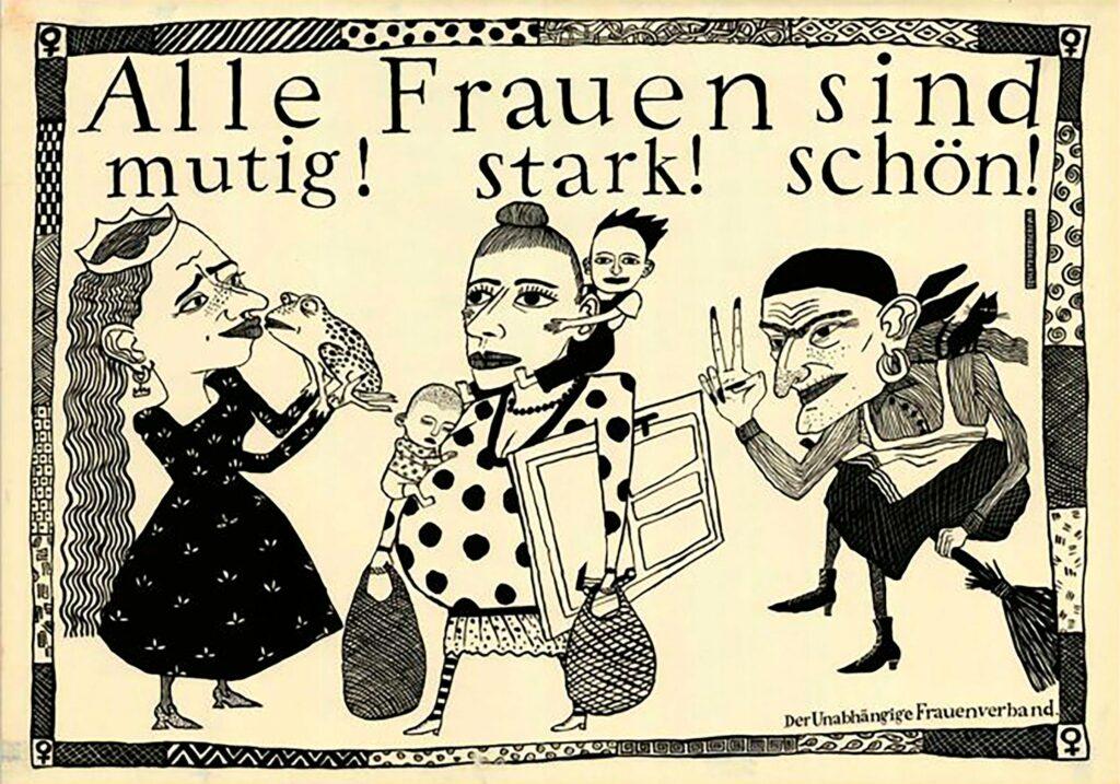 Plakat des unabhängigen Frauenverbandes der DDR.   Bildquelle: WDR / Labo M GmbH